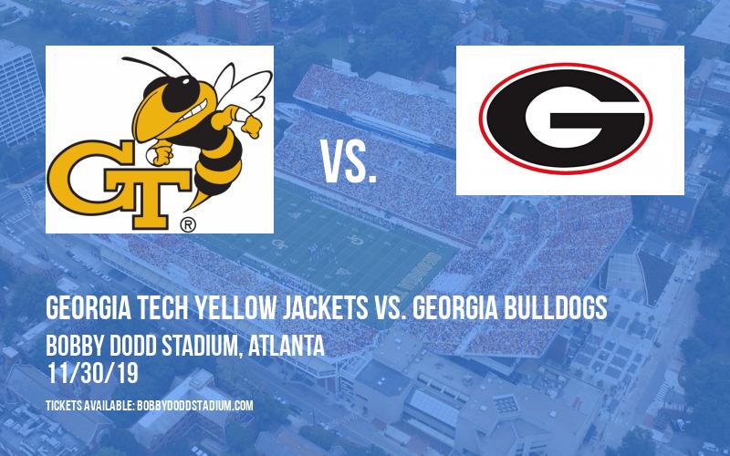 Georgia Tech Yellow Jackets vs. Georgia Bulldogs at Bobby Dodd Stadium