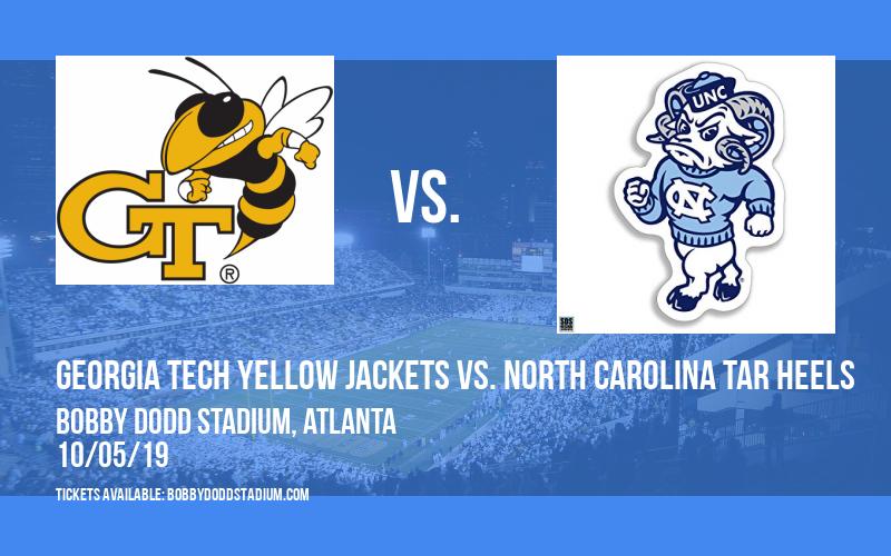 Georgia Tech Yellow Jackets vs. North Carolina Tar Heels at Bobby Dodd Stadium