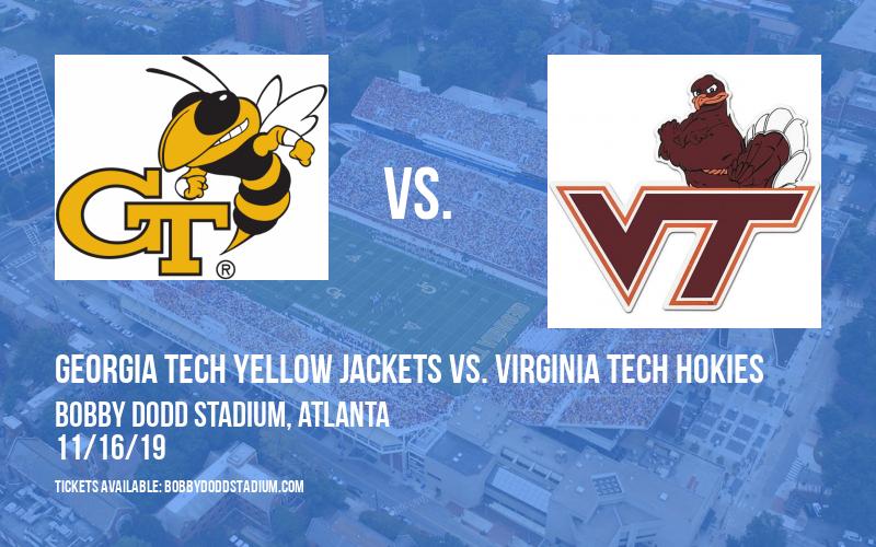 Georgia Tech Yellow Jackets vs. Virginia Tech Hokies at Bobby Dodd Stadium