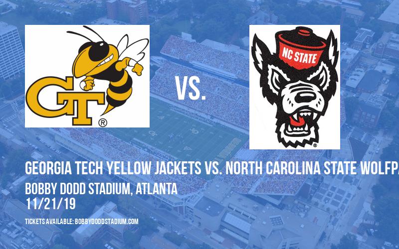 Georgia Tech Yellow Jackets vs. North Carolina State Wolfpack at Bobby Dodd Stadium