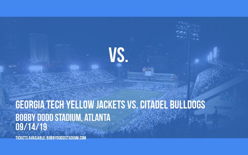 Georgia Tech Yellow Jackets vs. Citadel Bulldogs at Bobby Dodd Stadium