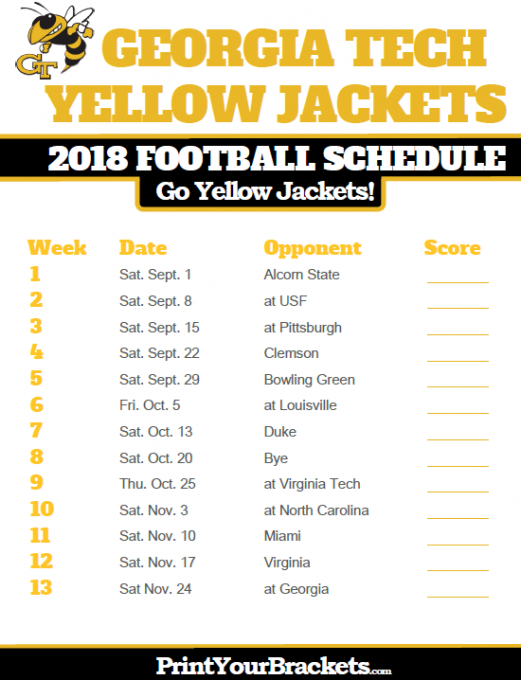 Georgia Tech Yellow Jackets vs. Duke Blue Devils at Bobby Dodd Stadium