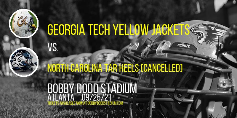 Georgia Tech Yellow Jackets vs. North Carolina Tar Heels [CANCELLED] at Bobby Dodd Stadium